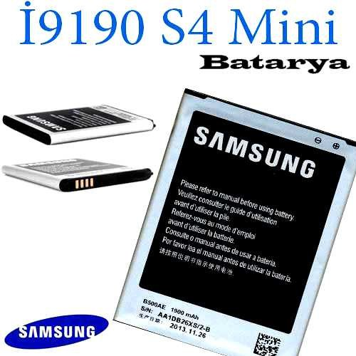 Carda İ9190 Galaxy S4 Mini Batarya
