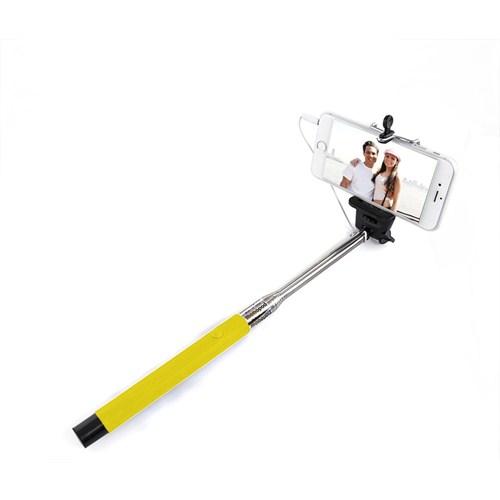 Codegen SSK-010Y Kulaklık Girişi Bağlantılı Çekim Butonlu Sarı Selfie Çubuğu