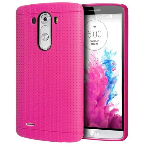 Case 4U LG G3 Dot Style Silikon Kılıf Pembe*