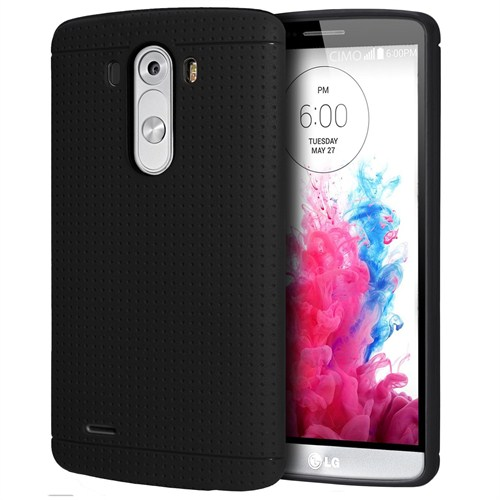 *Case 4U LG G3 Dot Style Silikon Kılıf Siyah