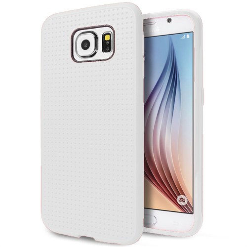 Case 4U Samsung Galaxy S6 Dot Style Silikon Kılıf Beyaz