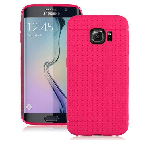 Case 4U Samsung Galaxy S6 Edge Dot Style Silikon Kılıf Pembe