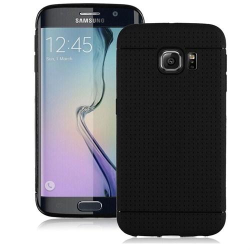 Case 4U Samsung Galaxy S6 Edge Dot Style Silikon Kılıf Siyah