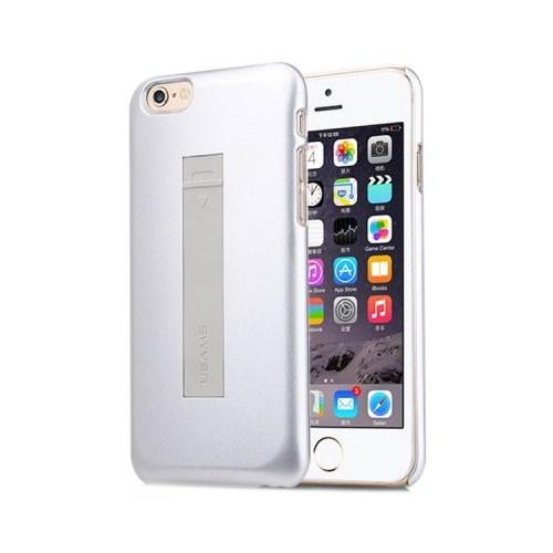 Usams Apple iPhone 6/6s USB Kablolu Rubber Kapak Gümüş