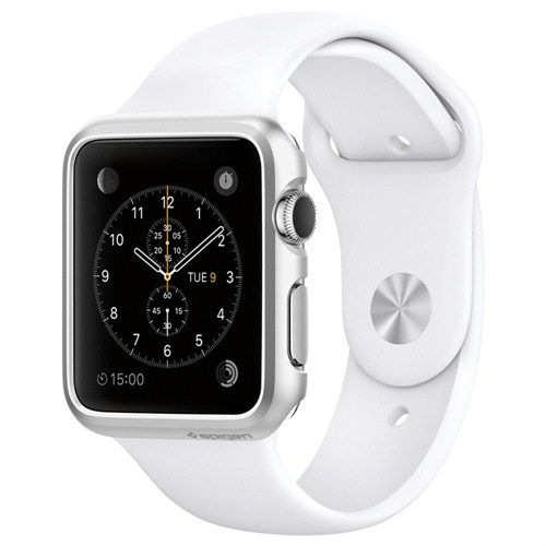 Spigen Apple Watch Kılıf Thin Fit (38mm) Satin Silver - SGP11489