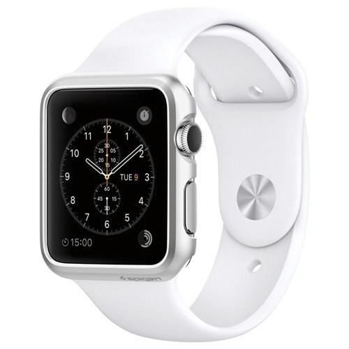 Spigen Apple Watch Kılıf Thin Fit (38mm) Satin Silver - SGP11489