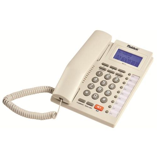 Multitek MC 111 CID Masa Telefonu - Açık Gri