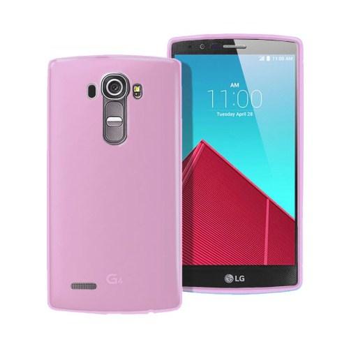 Microsonic Transparent Soft LG G4 Kılıf Pembe - CS130-TRP-LG-G4-PMB