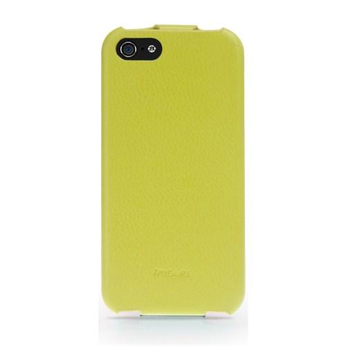 iPearl Apple iPhone 5/5S Deri Kılıf - Yeşil Ivan Clamshell Leather Case