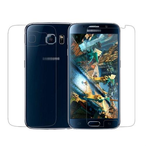 Microsonic Samsung Galaxy S6 Ön + Arka Ekran Koruyucu Şeffaf-SG106-GLX-S6-FB