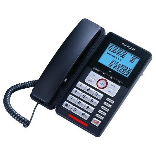 Alfacom 521 Cid. Masa Telefonu Siyah