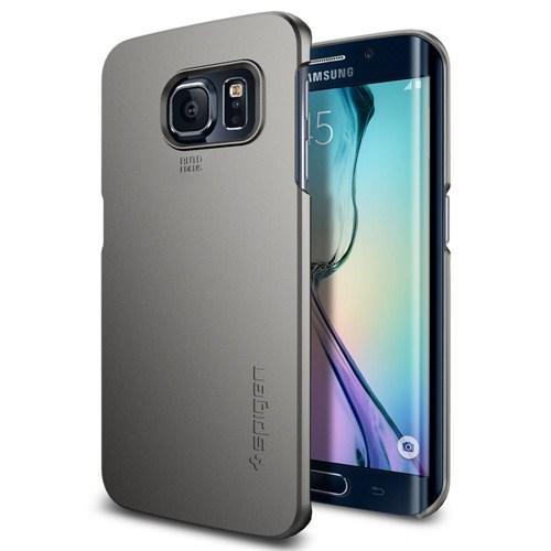 Spigen Sgp Samsung Galaxy S6 Edge Kılıf Thin Fit Gun Metal - SGP11410