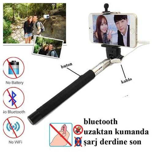 Markacase Selfie Özçekim Monopod Çubuk Şarj Bluetooth Derdine Son