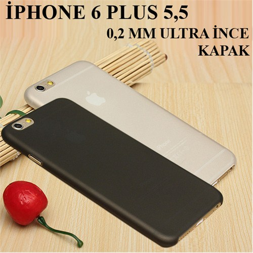 Markacase Apple İphone 6 Plus 5,5 0,2 Mm Ultra İnce Slim Arka Kapak