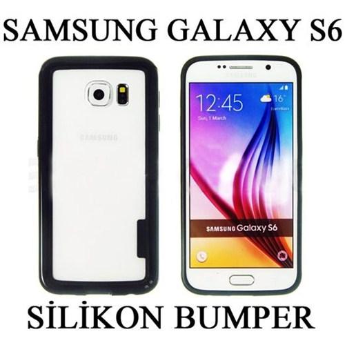 Markacase Samsung Galaxy S6 Silikon Bumper Kılıf Çerçeve