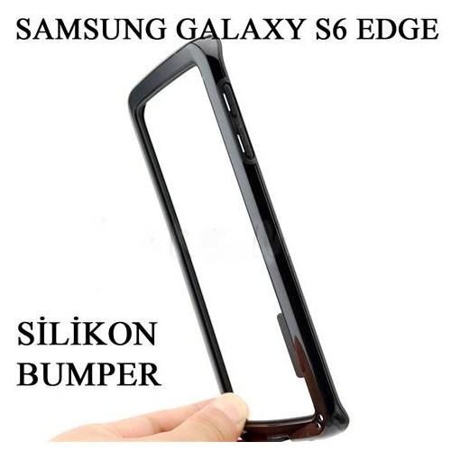 Markacase Samsung Galaxy S6 Edge Silikon Bumper Kılıf Çerçeve
