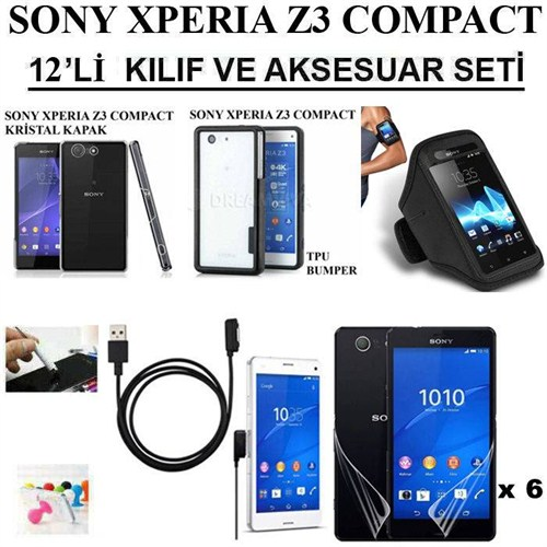 Markacase Sony Xperıa Z3 Compact Kılıf Ve Manyetik Şarj Seti 12'Li