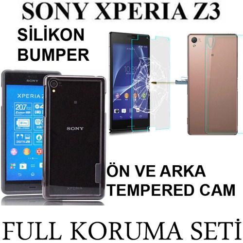 Markacase Sony Xperıa Z3 Tempered Cam Ve Bumper Ekran Koruma Seti
