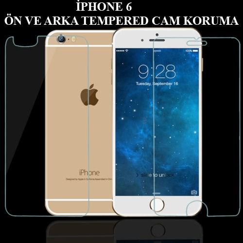 Markacase Apple İphone 6 4,7 Ön Ve Arka Tempered Kırılmaz Cam Koruyucu