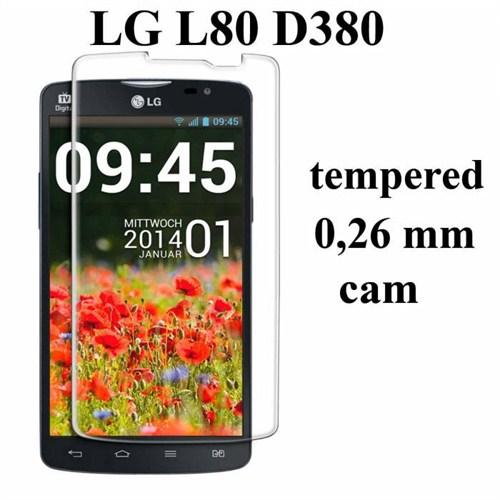 Markacase Lg L80 D380 Tempered Kırılmaz Cam 0,26 Mm
