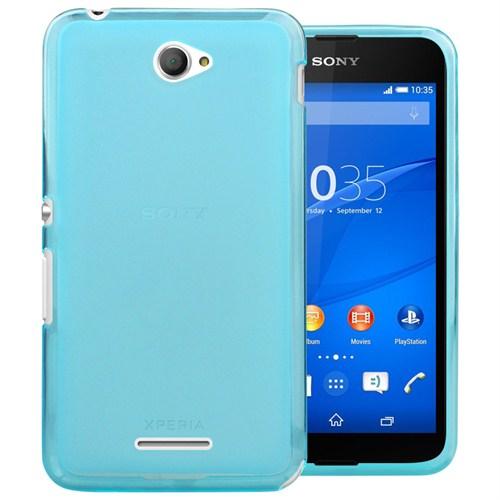 Microsonic Transparent Soft Sony Xperia E4g 4.7'' Kılıf Mavi