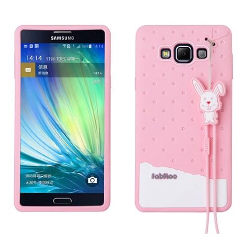 Fabitoo Samsung Galaxy A7 Candy Kılıf Pembe