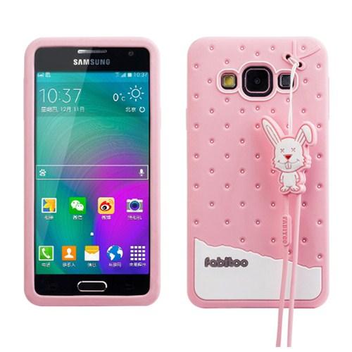 Fabitoo Samsung Galaxy A3 Candy Kılıf Pembe