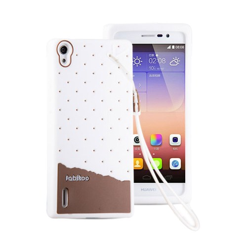 Fabitoo Huawei P7 Candy Kılıf Beyaz