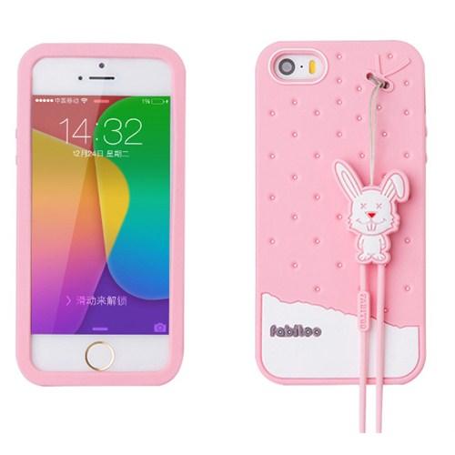 Fabitoo İphone 5S Candy Kılıf Pembe