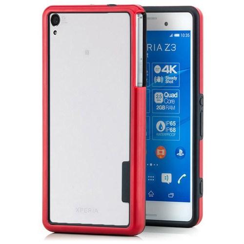 Microsonic Soft Bumper Sony Xperia Z3 Kılıf Kırmızı