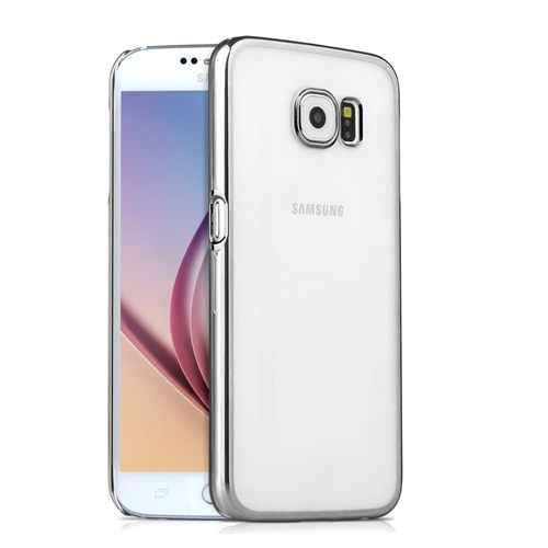 Microsonic Metalik Transparent Samsung Galaxy S6 Kılıf Gümüş