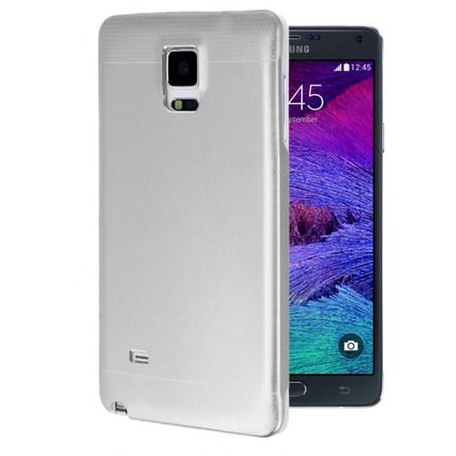 Microsonic Samsung Galaxy Note 4 Dual Katmanlı Combo Metal Kılıf Gümüş