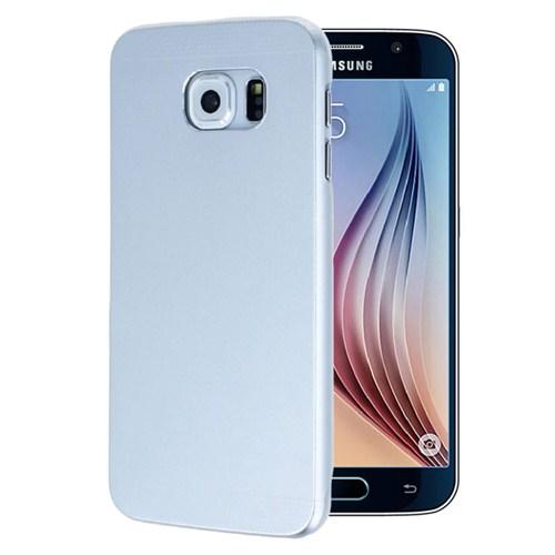 Microsonic Samsung Galaxy S6 Dual Katmanlı Combo Metal Kılıf Gümüş