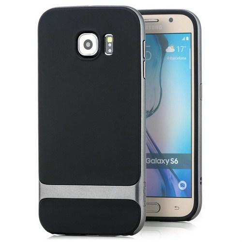 Rock Royce Series Hybrid Samsung Galaxy S6 Kılıf İron Grey