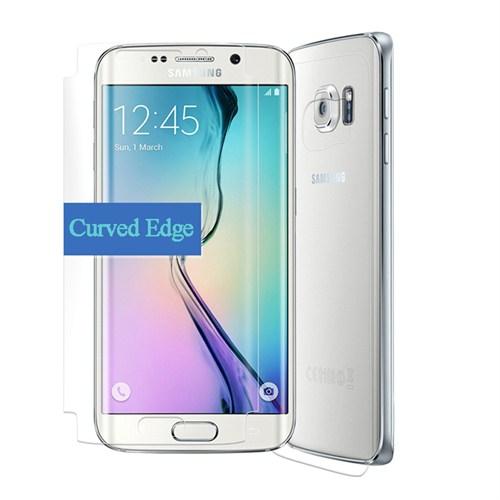 Microsonic Samsung Galaxy S6 Edge Ön + Arka Tam Ekran Kaplayıcı Film Kavisler Dahil