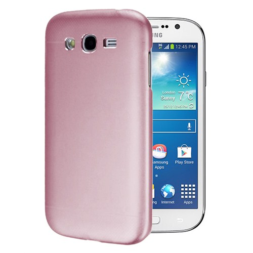 Microsonic Samsung Galaxy Grand Neo Dual Katmanlı Combo Metal Kılıf Pembe