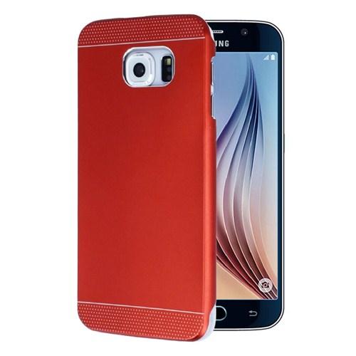 Microsonic Samsung Galaxy S6 Dual Katmanlı Combo Metal Kılıf Kırmızı