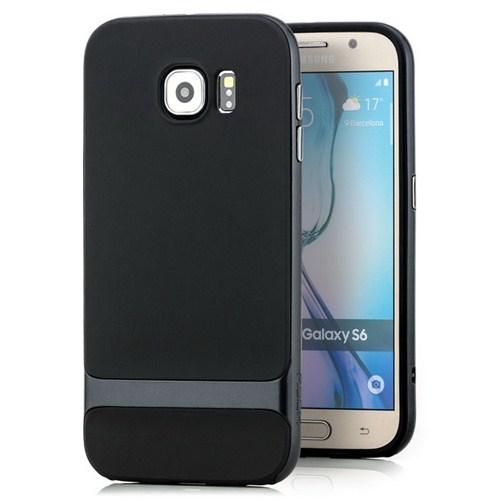 Rock Royce Series Hybrid Samsung Galaxy S6 Kılıf Navy Blue