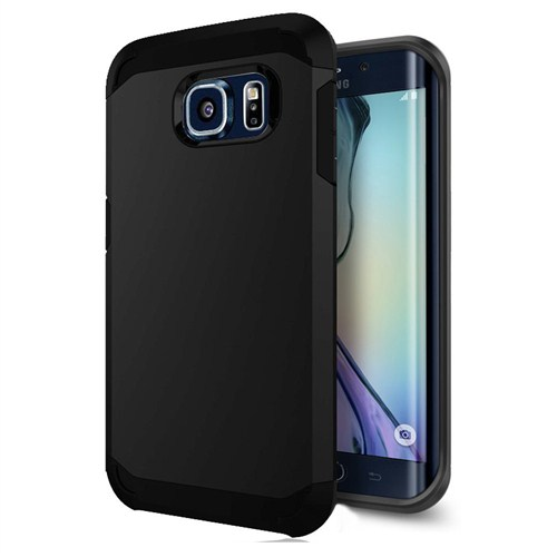 Microsonic Slim Fit Dual Layer Armor Samsung Galaxy S6 Edge Kılıf Siyah