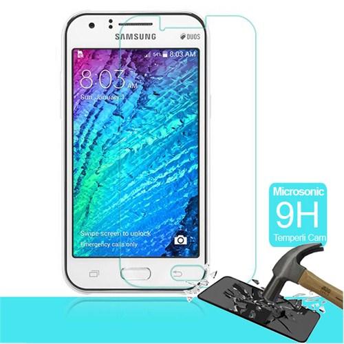 Microsonic Temperli Cam Ekran Koruyucu Samsung Galaxy J1 Kırılmaz Film