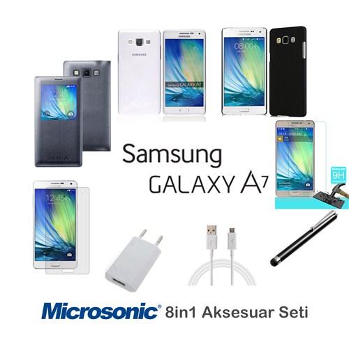 Microsonic Samsung Galaxy A7 Kılıf & Aksesuar Seti 8İn1