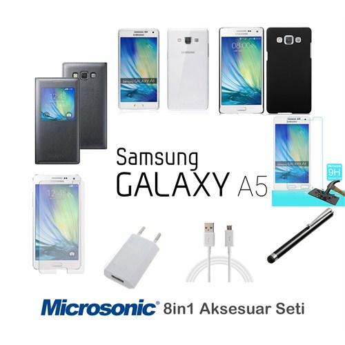 Microsonic Samsung Galaxy A5 Kılıf & Aksesuar Seti 8İn1