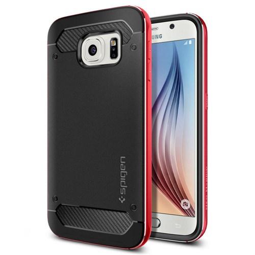 Spigen Sgp Samsung Galaxy S6 Kılıf Neo Hybrid Metal Metal Red - SGP11323