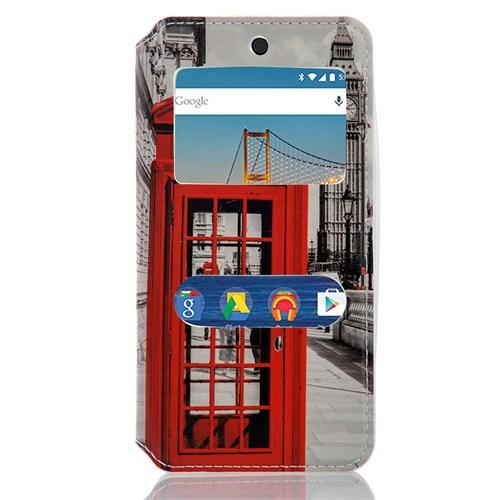CoverZone General Mobile Android One 4G Kılıf Pencereli Telefon Kulübesi