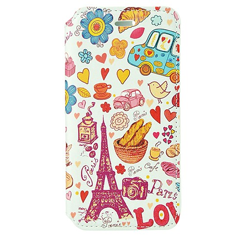 CoverZone İphone 6 Kılıf Kapaklı Resimli Paris In Love