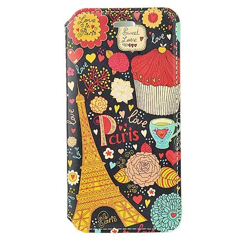 CoverZone İphone 6 Kılıf Kapaklı Resimli Paris