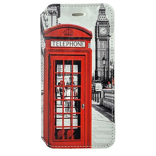 CoverZone İphone 6 Kılıf Kapaklı Resimli Kırmızı Telefon Kulübesi