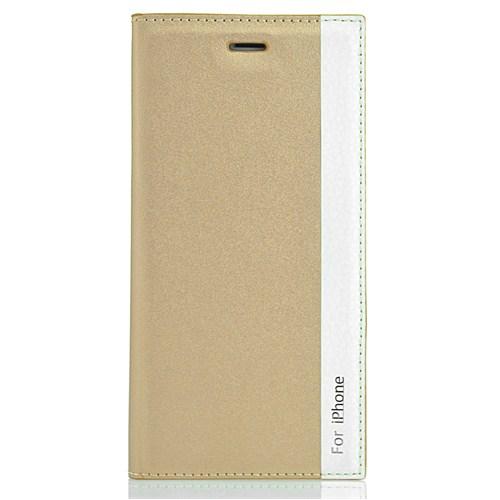 CoverZone İphone 6 Plus Kılıf Deri Kapaklı Magnum Gold