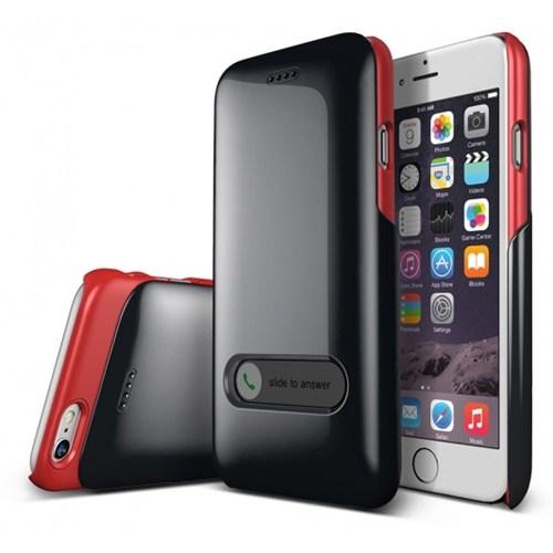 VERUS İphone 6 Kılıf Verus Case Slim Hard Slide Series Siyah - Kırmızı