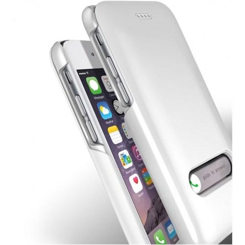 VERUS İphone 6 Kılıf Verus Case Slim Hard Slide Series Beyaz